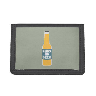 Runs on Beer Bottle Zcy3l Trifold Wallet