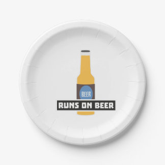 Runs on Beer Z7ta2 7 Inch Paper Plate