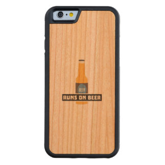 Runs on Beer Z7ta2 Carved Cherry iPhone 6 Bumper Case