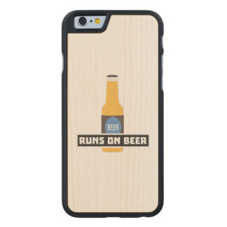 Runs on Beer Z7ta2 Carved Maple iPhone 6 Case