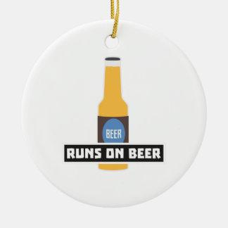 Runs on Beer Z7ta2 Ceramic Ornament
