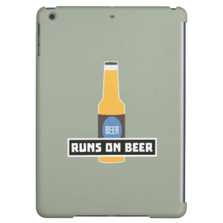 Runs on Beer Z7ta2 iPad Air Covers