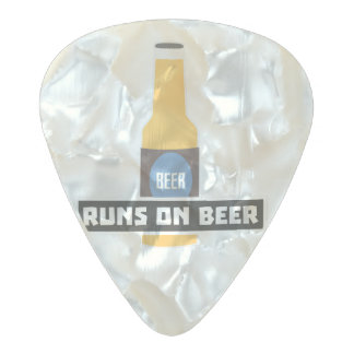 Runs on Beer Z7ta2 Pearl Celluloid Guitar Pick