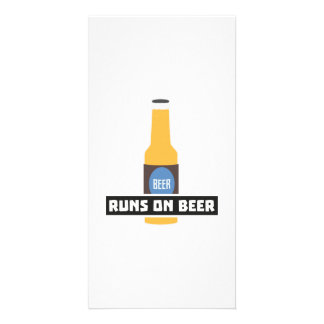Runs on Beer Z7ta2 Photo Greeting Card