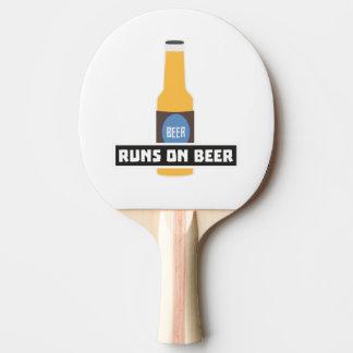 Runs on Beer Z7ta2 Ping Pong Paddle