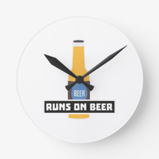 Runs on Beer Z7ta2 Round Clock