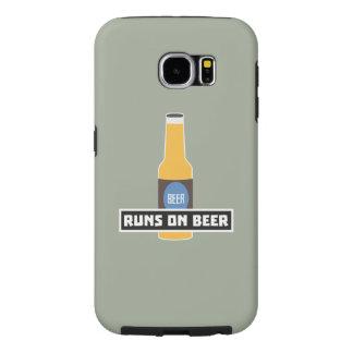 Runs on Beer Z7ta2 Samsung Galaxy S6 Cases