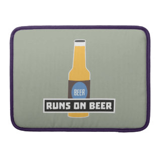 Runs on Beer Z7ta2 Sleeve For MacBook Pro