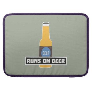 Runs on Beer Z7ta2 Sleeve For MacBooks