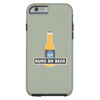 Runs on Beer Z7ta2 Tough iPhone 6 Case