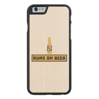 Runs on Beer Zmk10 Carved Maple iPhone 6 Case