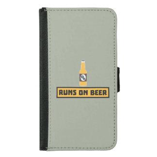 Runs on Beer Zmk10 Samsung Galaxy S5 Wallet Case