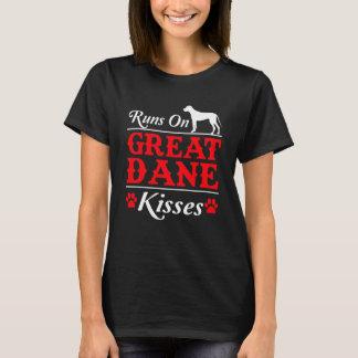 Runs On Great Dane Kisses Great Dane Dog T-Shirt