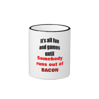 Runs Out Of Bacon Mugs
