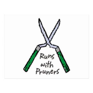 Runs with Pruners Postcard