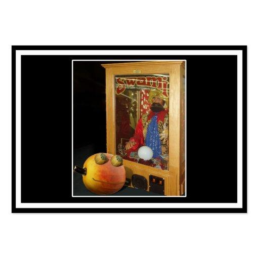 Rupert Halloween Pumpkin & The Swami Business Cards