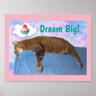 Rupie Cat Dream Big Poster