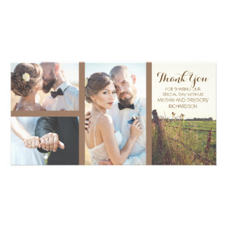 Rural Barbed Wire Fence Rustic Wedding Customized Photo Card