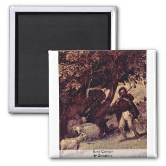 Rural Concert  By Giorgione Square Magnet