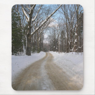 Rural Dirt Road Winter Photography Mouse Pad