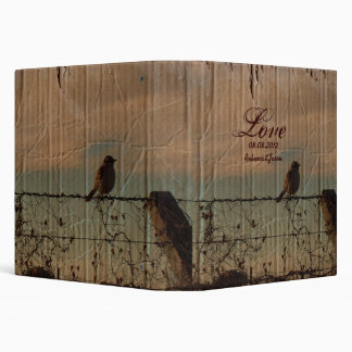 Rural Farm fence bird western barn wedding Binders