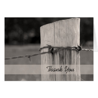 Rural Fence Post Country Farm Thank You Card