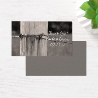 Rural Fence Post Country Ranch Wedding Favor Tags Business Card