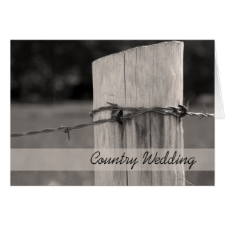 Rural Fence Post Country Wedding Save the Date Card