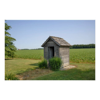 Rural Indiana Rustic Outhouse Poster