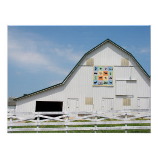 Rural Iowa Animal Barn Poster