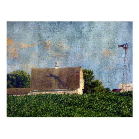 Rural Iowa Barn 4 Postcard