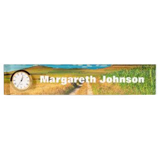 Rural landscape name plate