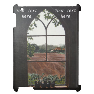 Rural landscape view from church window painting cover for the iPad 2 3 4
