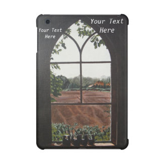 Rural landscape view from church window painting iPad mini retina covers