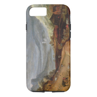 Rural Landscape with a Farmer Bridling Horses, a P iPhone 7 Case