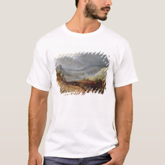 Rural Landscape with a Farmer Bridling Horses, a P T-Shirt