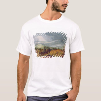 Rural Landscape with a Pilgrim Kneeling Before the T-Shirt