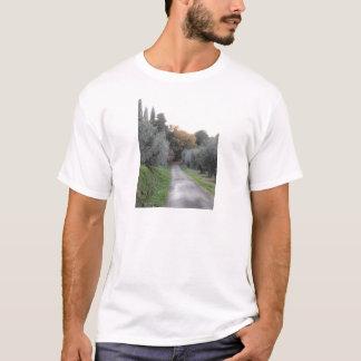 Rural landscape with asphalt road in the autumn T-Shirt