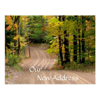 Rural New Address Country Road in Fall Postcards