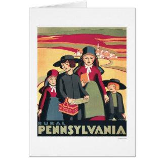 Rural Pennsylvania Amish 1939 WPA Card