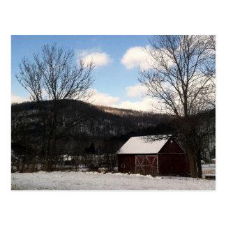 Rural Pennsylvania Barn in Winter Postcard