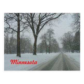 Rural road in Minnesota Postcard