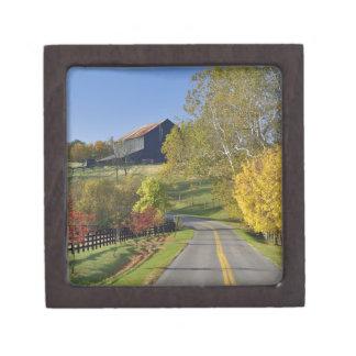 Rural road through Bluegrass region of Kentucky Premium Keepsake Boxes