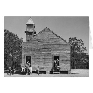Rural Schoolhouse, 1937 Card
