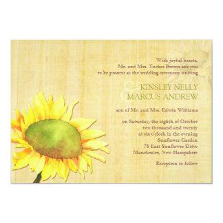 Rural Sunflowers + Papyrus Print Wedding Card