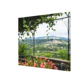 Rural Town Landscape, France Canvas Print