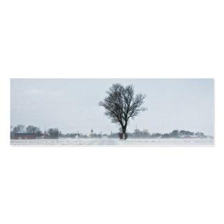 Rural winter road mini business card