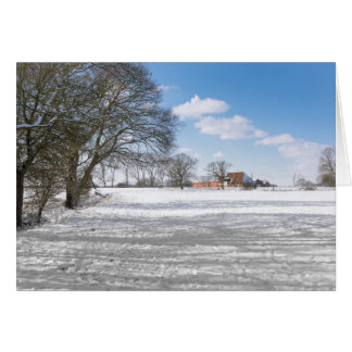Rural winter scene card