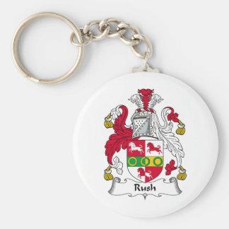 Rush Family Crest Keychain