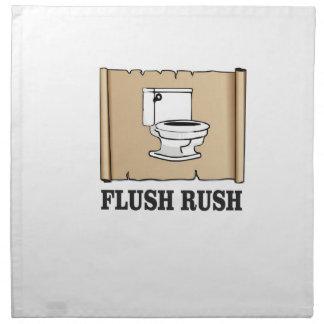 rush flush art napkin